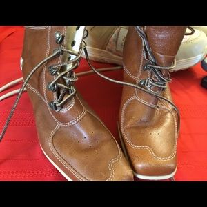 Timberland wedge boot ladies cognac 7m Shoes